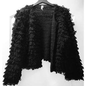 HOST PICK 🎉 Far from home Black Shaggy Jacket